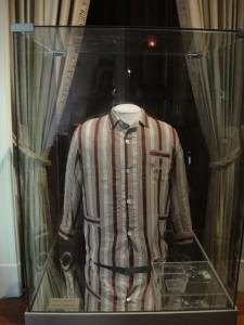 Vargas' bloodied pajama and revolver
