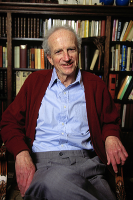 13 Oct 1992, Chicago, Illinois, USA --- Economist and Sociologist Gary Becker at Home --- Image by © Ralf-Finn Hestoft/CORBIS