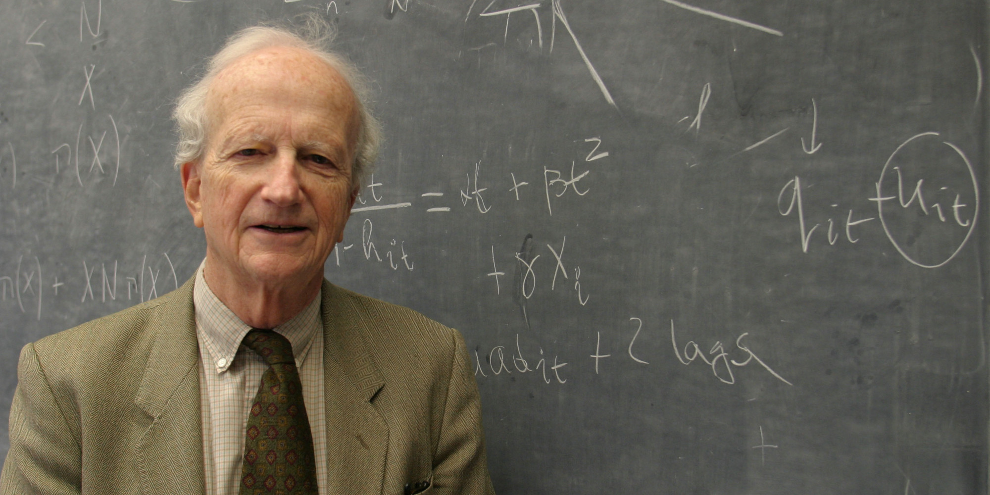 University of Chicago Professor Gary Becker who teaches economics and sociology poses for a portrait in his office, Tuesday, Nov. 1, 2005, in Chicago. Becker has been educating students at the U of C for over thirty years.(AP Photo/Joshua Lott)