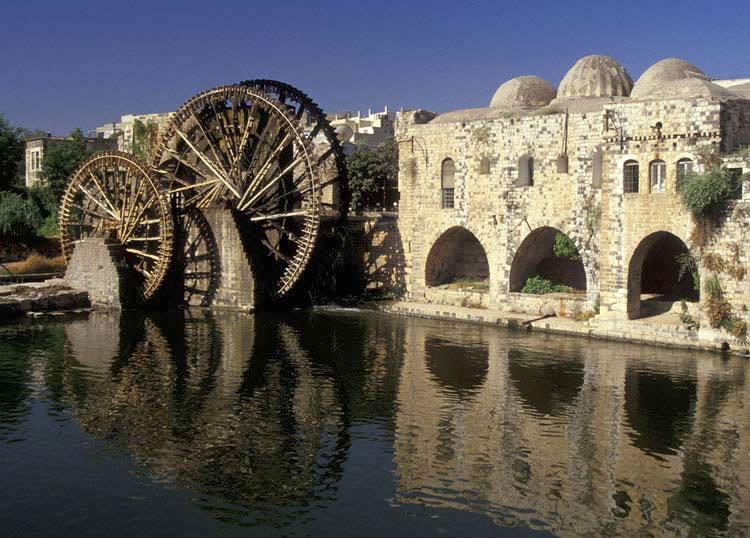 Waterwheels,-Hama,-Syria